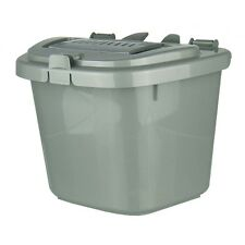 Silver Grey Kitchen Compost Caddy Bin - Food Recycling (5 Litre) 5L