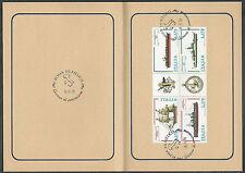 1978 ITALIA NAVI BLOCCO ANNULLO FDC - ED739