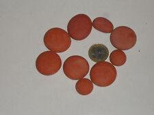 650 grammes de mosaïque plâtre rouge (forme galet plat)
