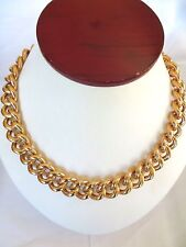 """Unisex Shinny Rose Gold Plated Stainless Steel Large Cuban Link Necklace 18 """""""