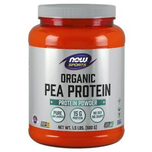 NOW Foods Sports Organic Pea Protein Natural Unflavored 1.5lbs FREE Shipping