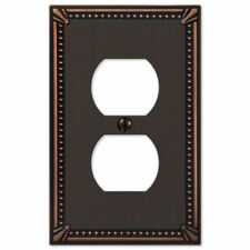 Imperial Bead Aged Bronze Switch Plate Cover Toggle Rocker Duplex Wallplate Gfi