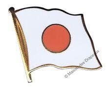 Pin's drapeau Japon japonais badge 2x2cm doré