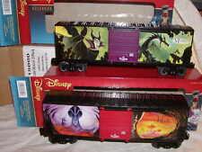 Lionel 6-82718 Disney Villains Box Car 2 pack O-27 MIB New 2016 Jafar Maleficent