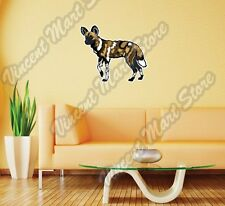 """African Wild Painted Dog Africa Wall Sticker Room Interior Decor 25""""X20"""""""