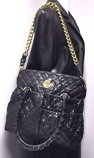 MARC JACOBS Women's Julianne Stam Quilted Black Calfskin Bag Medium