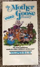 The Mother Goose Treasury Video Volumes III & IV New Factory Sealed! VHS 1987