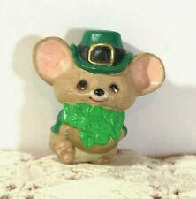 Vintage 1987 Hallmark Merry Miniature St. Patrick'S Day Mouse Shamrocks #Sha3467