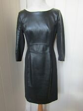 LTD COLLECTION black leather/fabric winter dress - UK12