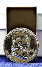 Ben Franklin Liberty Bell Silver Half Dollar Coin Money Clip