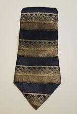 STAFFORD EXECUTIVE DESIGNER MULTI-COLOR Striped blue gold green  NECK TIE