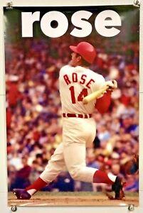 "Large 24"" x 36"" Cincinnati Reds Player Pete Rose Poster - Riverfront Stadium"
