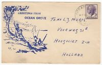 1958 Aug 8th. Illustrated Cover. Ocean Grove to Hoogvliet, Holland.