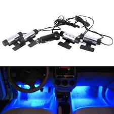 4*3 LED Car Auto Interior Atmosphere Lights Lamp Decoration Lamp Blue 12V DC US