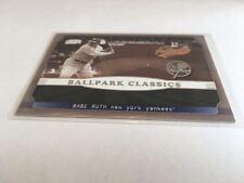 Fleer 2002 Authentix Baseball Ballpark Classics Babe Ruth