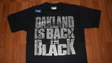 Vintage NFL Oakland Raiders BACK IN BLACK Football Team Mens T-Shirt LARGE