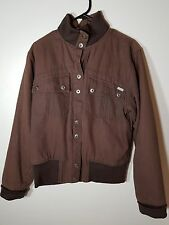 MENS BROWN RIPCURL COTTON JACKET COAT SIZE (14) S/M