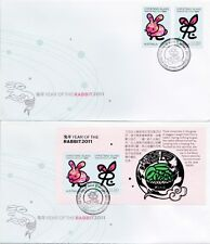 Christmas Island 2011 Year of the Rabbit Two FDCs