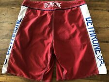Dethrone Royalty Mens Size 34 Boxing Board Shorts Red White Blue Embroidery Logo