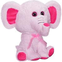 Emma The Elephant Plush Stuffed Animal Soft & Cozy Pink - 12""