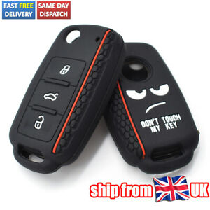 Silicone Key Case Cover For VW Golf Polo Caddy Tiguan Passat Remote Fob Holder