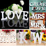 A~Z WOODEN LETTERS ALPHABET WHITE FREE STANDING 0-9 NUMBERS BRIDAL WEEDING DECOR