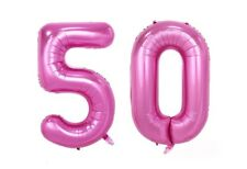 "Huge 40"" 50 Pink Foil Number Balloons Photo Shoot 50th Birthday Float Helium USA"