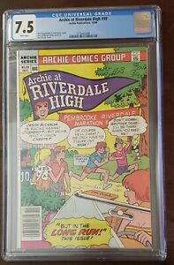ARCHIE AT RIVERDALE HIGH #99 - CGC 7.5 VF- Cheryl Blossom Appearance - HOT