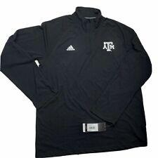 Texas A&m adidas Men 2xl XXL ULT 1/4 Zip Tee Black Climalite Shirt