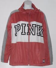 Victoria's Secret Pink Colorblock Funnel Neck Full Zip Lined Anorak Jacket XS/S