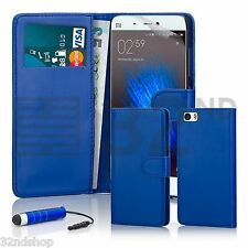 32nd Book Wallet PU Leather Case for XIAOMI Mi5 Screen Protector & Stylus Deep Blue