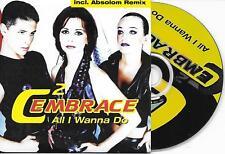 C2-EMBRACE - All i wanna do CD SINGLE 2TR Euro House Trance 1998 Belgium
