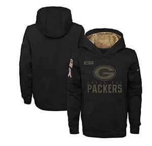 Green Bay Packers Nike Youth Boys 2020 Salute to Service Hoody Sweatshirt
