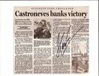 2005 HELIO CASTRONEVES signed INDIANAPOLIS 500 PHOTO CARD POSTCARD INDY CAR