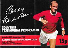 Celtic Football Testimonial Fixture Programmes (1970s)