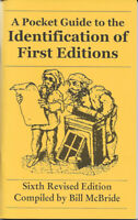 NEW!! A Pocket Guide to the Identification of First Editions McBride 6th Edition