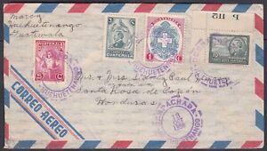 GUATEMALA 1950 AIRMAIL COVER HUEHUETENANGO TO SANTA ROSA HONDURAS