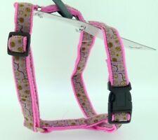 Harnais rose pour petits chiens en nylon pour chien