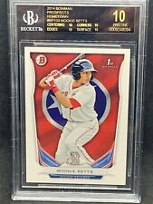 2014 Bowman Prosepcts Hometown Mookie Betts BGS 10 Pristine Black Label Pop 1