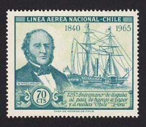 History Steamboat = W.Wheelwright, MNH VF, Chile