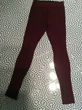 f9a012ceecad Herve Leger burgundy leggings size S