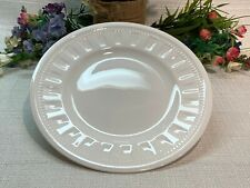 """Wedgwood COLOSSEUM 8-1/4"""" White Salad Plate,England, MINT Condition."""