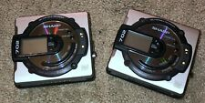 Lot of (2) Sharp Portable Minidisc Recorder Md-Ms702 As-Is for Parts or Repair