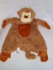 2013 Douglas Baby Plush Monkey Blanket Sshulumpie Brown Soft Stuffed Animal Toy