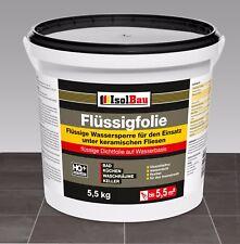 Isolbau Flüssigfolie 5,5 kg Dichtfolie Innenbereich Abdichtung Bad Dusche Küche