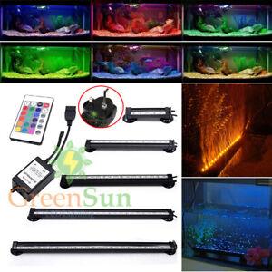 Aquarium Fish Tank LED Light SMD RGB Strip Light Bar Lamp Lights &Remote Control
