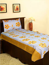 Homefab India Cotton Single Bed-Sheet with 1 Pillow Cover (Single144)
