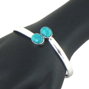 Sold 925 Sterling Silver Turquoise Bracelet Wedding Gift Women ABS-1039