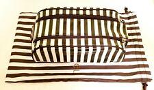 Henri Bendel Stripe Coated Canvas Double Zipper Dopp Kit w/Dustbag (NEW!!!)