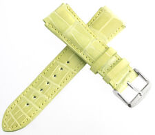 Chase-Durer Womens 18mm Pistachio Genuine Alligator Leather Watch Band Strap